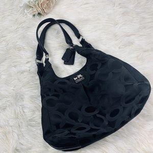Black Coach Classic C Logo Purse Shoulder handbag